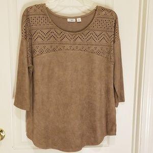 SoftBohemian aztec style blouse 3/4-long sleeve, M